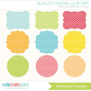 Frames - Shabby Chic / Polka Dots / Spring Colors