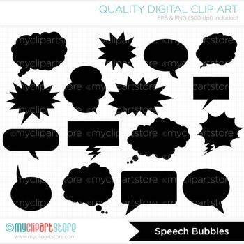 Frames - Speech Bubbles / Blurbs