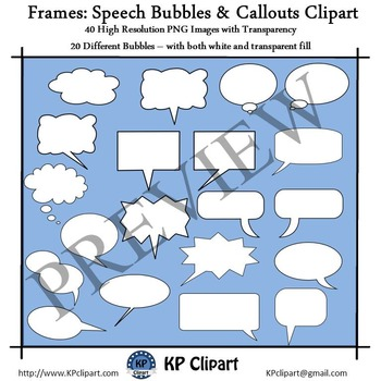 Frames Speech Bubbles and Callouts Clipart
