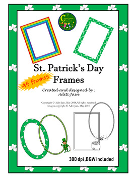 Frames St. Patrick's Day 300 dpi,45 frames