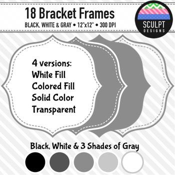 Frames ~ Stitched Bracket Frames ~ B&W