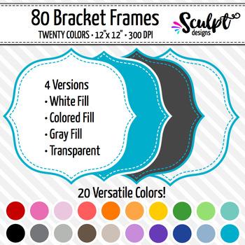 Frames ~ Stitched Bracket Frames ~ Twenty Colors