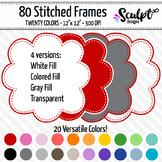 Frames ~ Stitched Cloud Frames ~ Twenty Colors