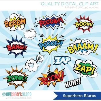 Frames - Superhero / Comic Book / Comic Text Speech Bubbles