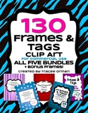 Frames Tags Borders Bundle for Commercial Use 130 Images