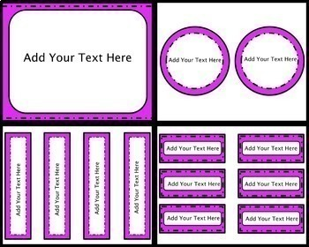 EDITABLE Frames, Labels, And Task Cards {Bright and Fun}