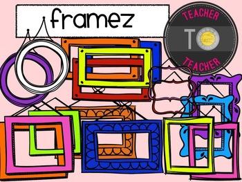 Frames - Seller Frames {TeacherToTeacher Clipart}
