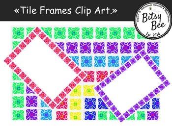 Frames  (Tile) Clip Art.