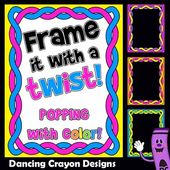 Twisted Frames | Borders Clip Art
