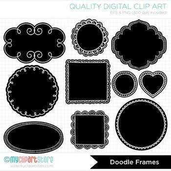 Frames - Valentine Doodle Chalkboard labels / Chalk Frames