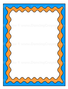 Frames and Borders Clip Art | Colorful Waves