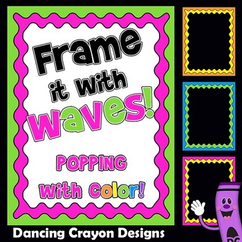 Frames and Borders - Colorful Waves