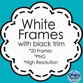 Frames: White Frames with black outline