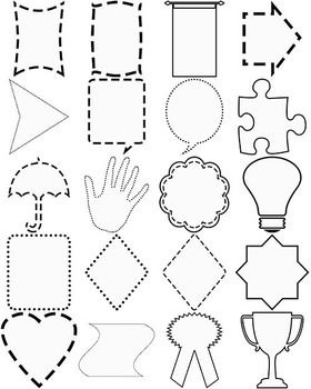 White Frames with black outline