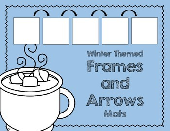 Frames and Arrows Mats Freebie: Winter-Themed