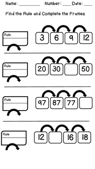Every Day Math -Frames and Arrows Practice Pack