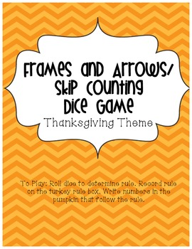 Frames and Arrows/ Skip Counting Thanksgiving Dice Game