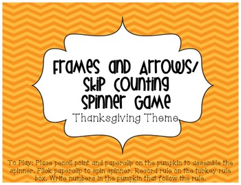 Frames and Arrows/ Skip Counting Thanksgiving Spinner Game
