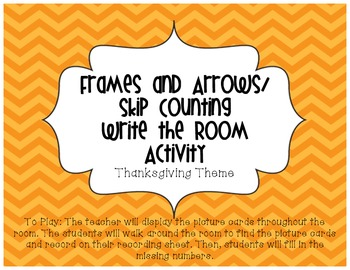 Frames and Arrows/ Skip Counting Write the Room (Fall Theme)