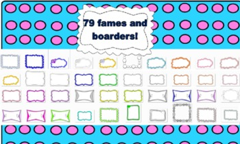 100+ Frames and Boarders and Backgrounds!!!!!