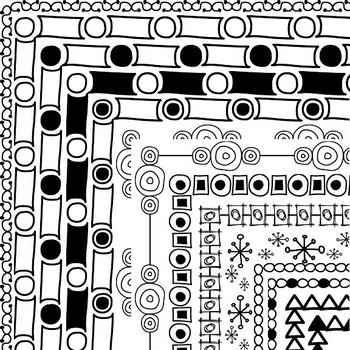 Frames and Borders - 50 Fabulous Hand Drawn Creations
