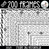 Borders - Page Borders and Frames Bundle Clip Art (200+)