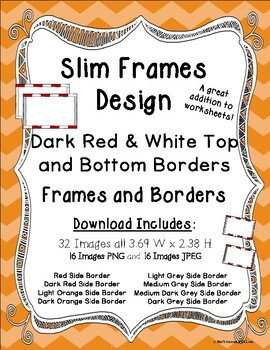 Frames and Borders Dark Red and White Top and Bottom Borders Slim Frames Design