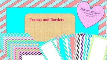 Frames and Borders Graphics- Stripes!