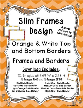 Frames and Borders Orange and White Top and Bottom Borders Slim Frames Design