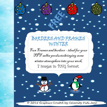 Winter Frames And Borders Teaching Resources | Teachers Pay Teachers