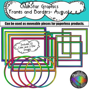 Frames and Borders for August- Chalkstar Graphics