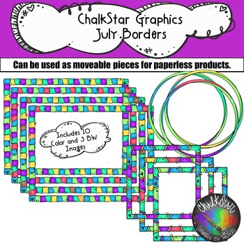 Frames and Borders for July- Chalkstar Graphics