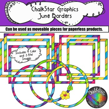 Frames and Borders for June- Chalkstar Graphics