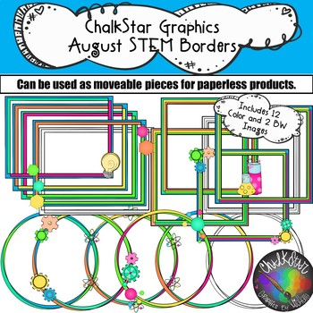 Frames and Borders for STEM- Chalkstar Graphics