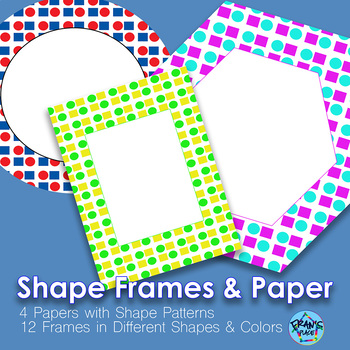 Frames and Digital Papers with Shape Theme