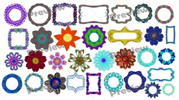 Frames and Flowers Sampler Pack ~{FREEBIE}~