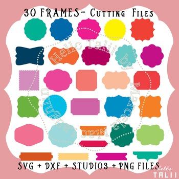 Frames and Labels- 30 SVG Cutting files