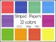 Frames and Papers Pack:  Colorful Rainbow