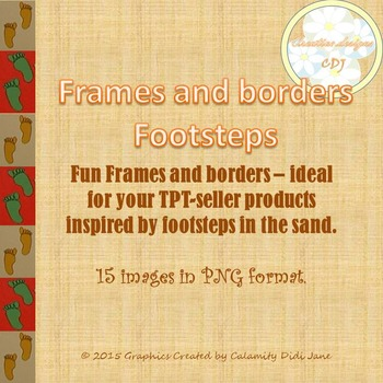 Frames and borders - Footsteps