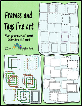 Frames and tags: Black line, color, transparent, and white inside