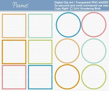 Frames clip art - set of 12 clip arts