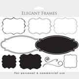 Frames clipart - elegant frames, ornate flourish frames, v
