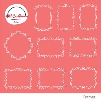 Frames clipart, labels clipart, vector images CL025