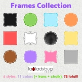 Frames collection. 6 styles, 11 colors+clear+chalkboard. P