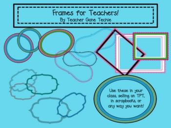 Frames for Teachers Clipart