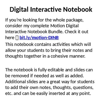 Frames of Reference - Digital Interactive Notebook Pages