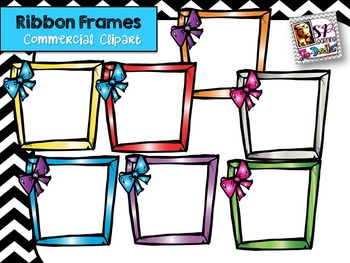 Frames with Bows Clip Art