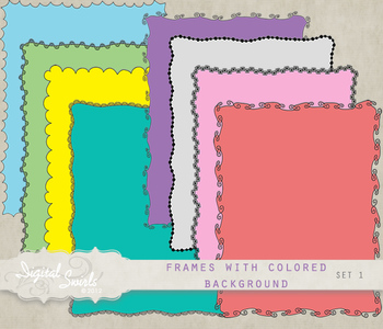 Frames with Colored Background Set 1