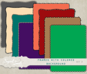 FREE Frames with Colored Background Set 2