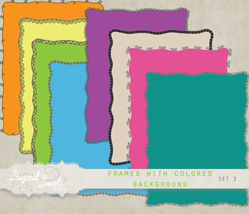 Frames with Colored Background Set 3